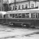 <p>Первый поезд КТМ-1+КТП-1 в Саратове 156+93 (1948 г.) в центре города на 11-м маршруте. Фото: Й. Слезак, август 1958</p>